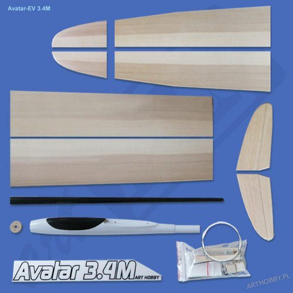 Avatar-EV 3.4M (F5J) - (klapy i lotki!!!!!!!) (#0093)
