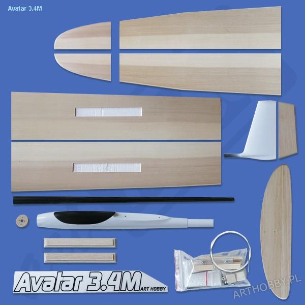 Avatar-E 3.4M (F5J) - flaps and brake (#0091)