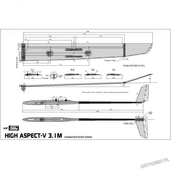 High Aspect 3.1M Klasa F3J (#0057)